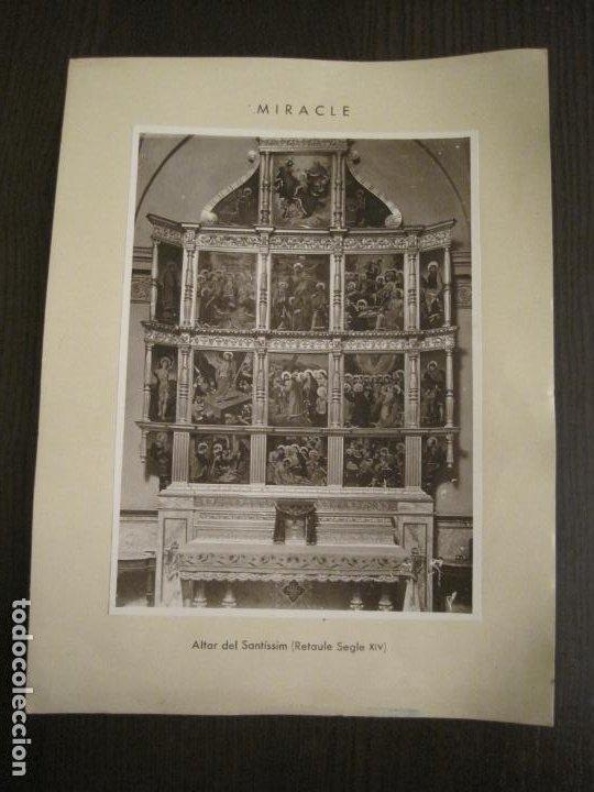 SOLSONA-MIRACLE-ADORACIO DEL STS REIS-RETAULE SEGLE XV-FOTOGRAFIA ANTIGA-VER FOTOS-(V-19.396) (Fotografía - Artística)