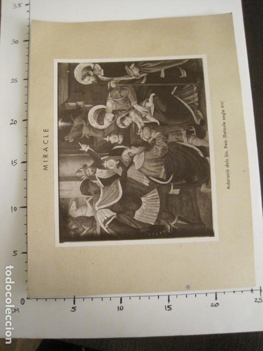 Fotografía antigua: SOLSONA-MIRACLE-ALTAR DEL SANTISSIM-RETAULE SEGLE XV-FOTOGRAFIA ANTIGA-VER FOTOS-(V-19.397) - Foto 7 - 196805326