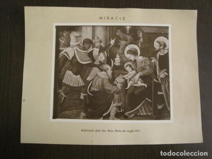 SOLSONA-MIRACLE-ALTAR DEL SANTISSIM-RETAULE SEGLE XV-FOTOGRAFIA ANTIGA-VER FOTOS-(V-19.397) (Fotografía - Artística)