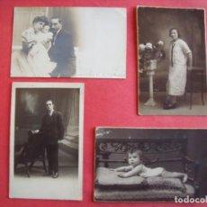 Photographie ancienne: FOTOGRAFIAS.-NAPOLEON.-F. ALONSO.-BARCELONA.-CHINCHILLA.-FOTO MILLAN.-TARRAGONA.-LOTE DE 4 FOTOS.. Lote 197137152
