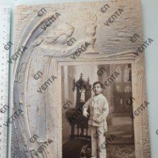 Fotografía antigua: FOTO ESTAMPA NIÑO COMUNIÓN 1929. Lote 196985646