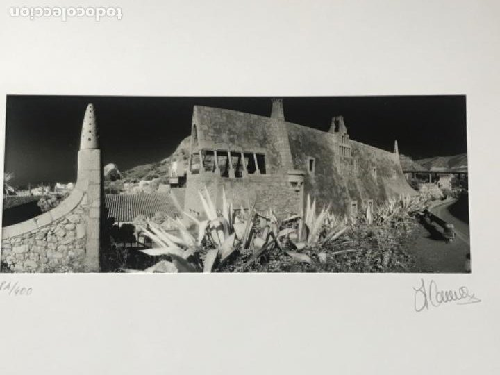 Fotografía antigua: FOTOGRAFÍA DE LLORENÇ HERRERA ALTÉS. CELLERS GÜELL DE GARRAF. GAUDÍ. FIRMADA. - Foto 2 - 197380305