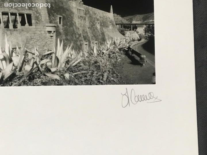 Fotografía antigua: FOTOGRAFÍA DE LLORENÇ HERRERA ALTÉS. CELLERS GÜELL DE GARRAF. GAUDÍ. FIRMADA. - Foto 4 - 197380305