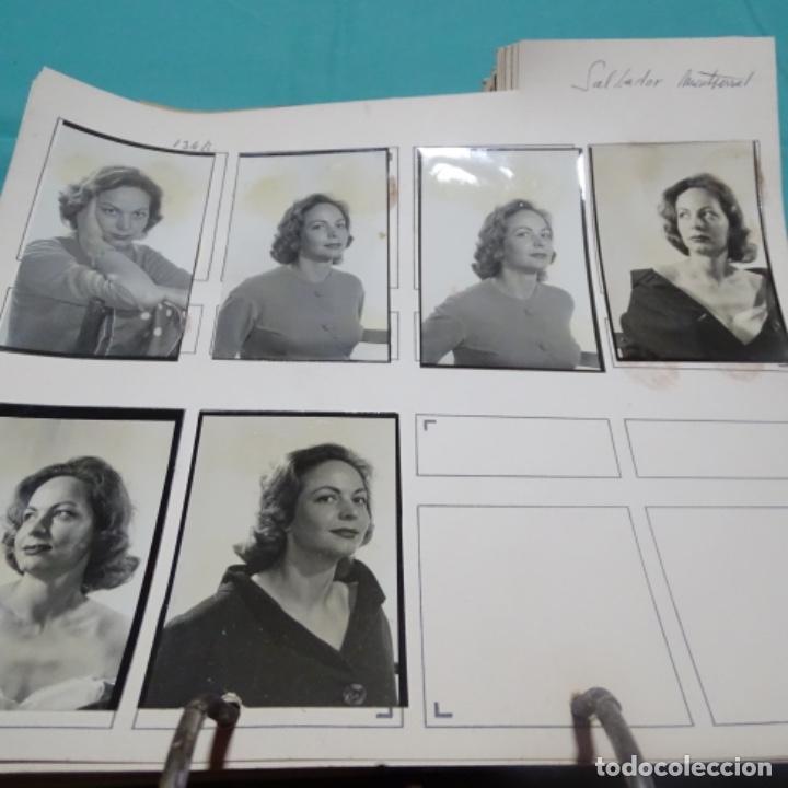 6 FOTOGRAFÍAS AÑOS 50 DE LA ACTRIZ MONTSERRAT SALVADOR DEOP (1927). (Fotografía - Artística)