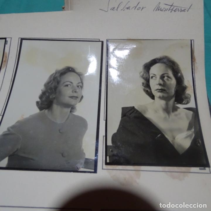 Fotografía antigua: 6 fotografías años 50 de la actriz Montserrat salvador deop (1927). - Foto 3 - 198048445