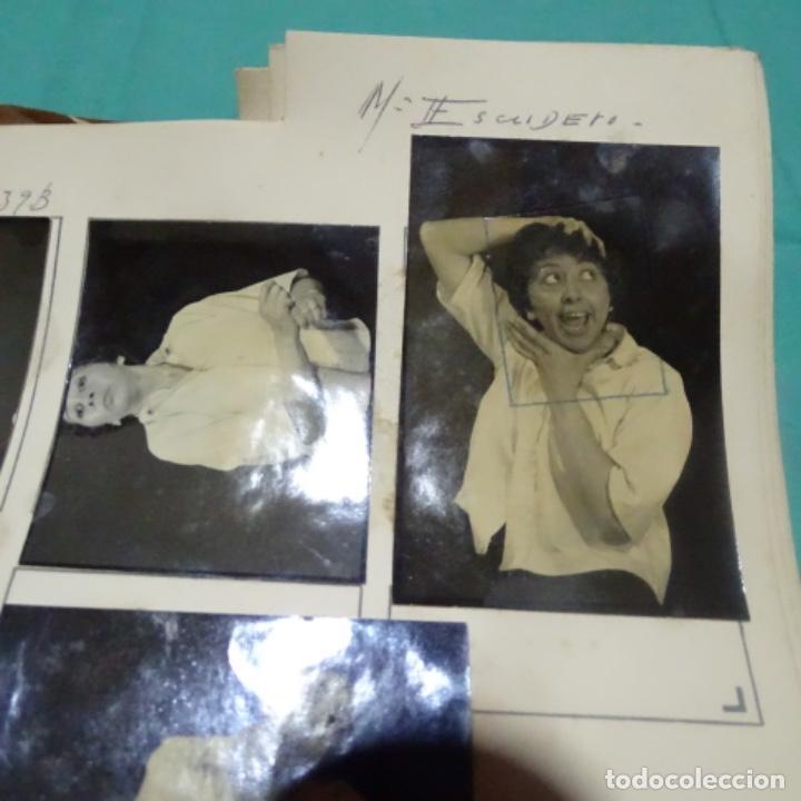 Fotografía antigua: 8 fotografías años 50 de la Actriz maria escudero. - Foto 4 - 198059017