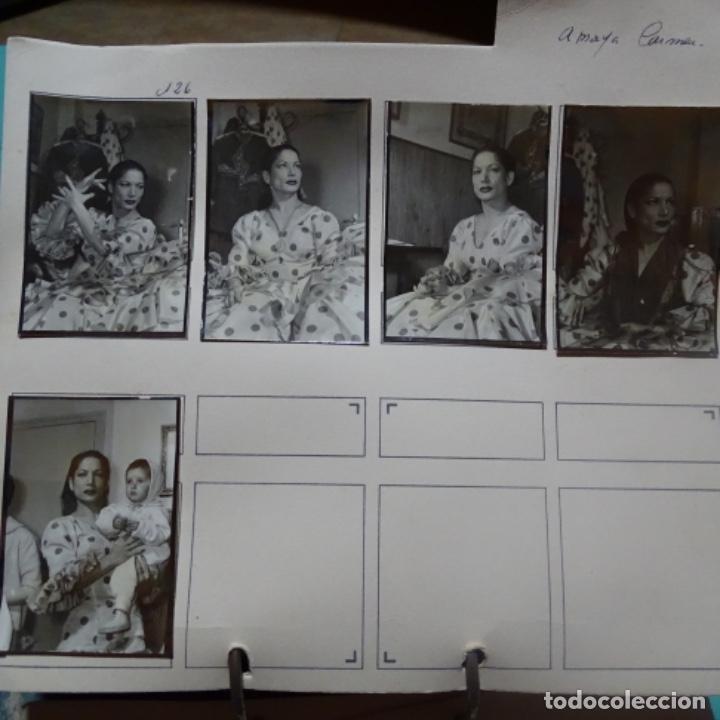 5 FOTOGRAFÍAS AÑOS 50 DE LA BAILAORA CARMEN AMAYA. (Fotografía - Artística)