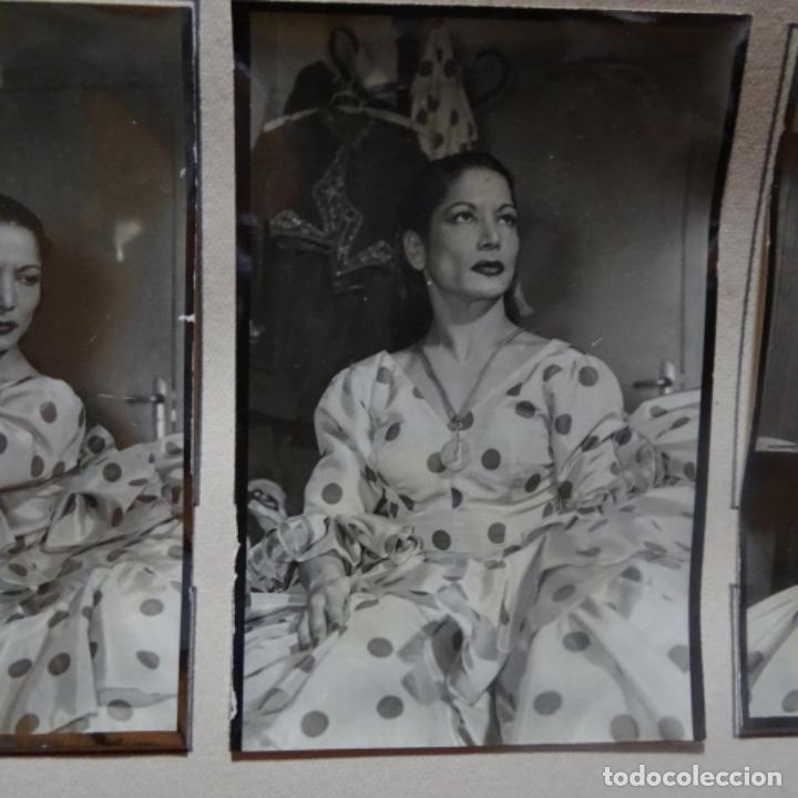 Fotografía antigua: 5 fotografías años 50 de La bailaora Carmen amaya. - Foto 4 - 198065150