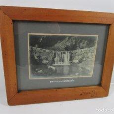 Fotografía antigua: ANTIGUA FOTOGRAFÍA - EFECTOS DE LA REPOBLACIÓN - MARCO EN MADERA DE ABEDUL. Lote 198679841