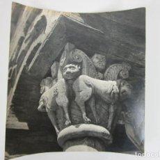 Fotografía antigua: FOTOGRAFÍA CAPITEL DEL CLAUSTRO SERRABONNE -FOTO PAUL GOBET -SERVICIOS DEL TURISMO FRANCES EN ESPAÑA. Lote 198879203