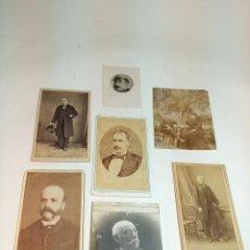 Fotografía antigua: LOTE DE 7 FOTOGRAFÍAS ANTIGUAS DE DIFERENTES PERSONAS DE DISTINTAS ÉPOCAS Y TAMAÑOS.. Lote 199322686