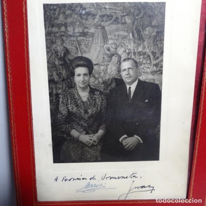 Fotografía antigua: fotografias de los reyes eméritos y don Juan de bombón y mujer.firmadas por todos.con cartas firmada - Foto 2 - 199678197