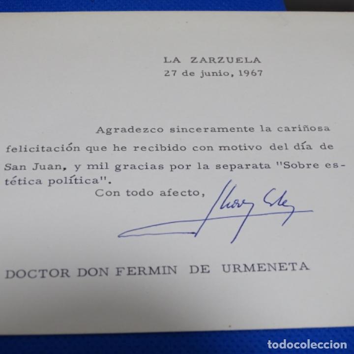 Fotografía antigua: fotografias de los reyes eméritos y don Juan de bombón y mujer.firmadas por todos.con cartas firmada - Foto 9 - 199678197