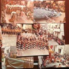 Fotografía antigua: ALCOY. FIESTAS .1982. 7 FOTOGRAFÍAS. Lote 200372840