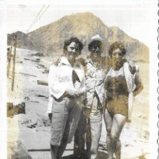 Fotografia antiga: == EE150 - FOTOGRAFIA - FOTO TOMADA PARA UNA PORTADA DE ABC DE DOS CAMPEONAS DE LUCHA LIBRE . Lote 200876570