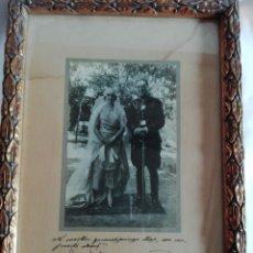 Fotografía antigua: FOTOGRAFÍA NOVIOS CON UNIFORME AÑO 1924 NO SOLO. Lote 201314425