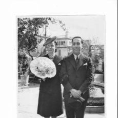 Fotografía antigua: FOTO PAREJA AÑOS 60 - FOTO-INFORM BRANGULÍ - BARCELONA. Lote 202391877