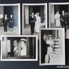 Fotografía antigua: LOTE 5 ANTIGUAS FOTOGRAFÍAS BODA. NOVIOS. GERONA. AÑOS 60.. Lote 203042781