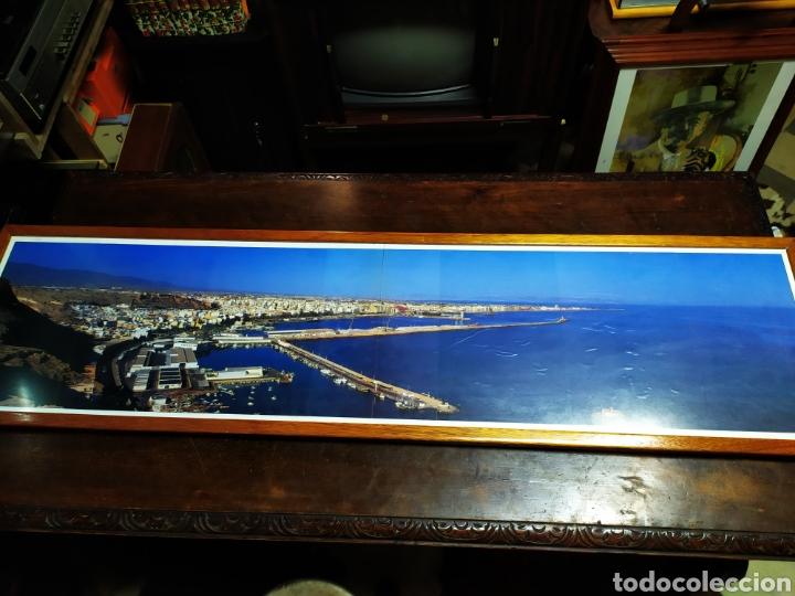 Fotografía antigua: Lamina panorámica de Almería enmarcada160cm x 40 cm aprox - Foto 2 - 203106036