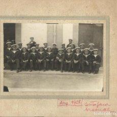 Fotografía antigua: CARTAGENA. ARSENAL. 1928. GRUPO DE MARINEROS. 20,5X23,5 CM. EN BUEN ESTADO CON SIGNOS DE LA EDAD.. Lote 203214178