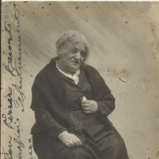 Fotografía antigua: PHOTO STUDIO VILASECA. FIRMA, AUTÓGRAFO ACTRIZ MARÍA MORERA. 1930. A SEBASTIÁN FERRER. 13,5X8,5 CM.. Lote 203239381