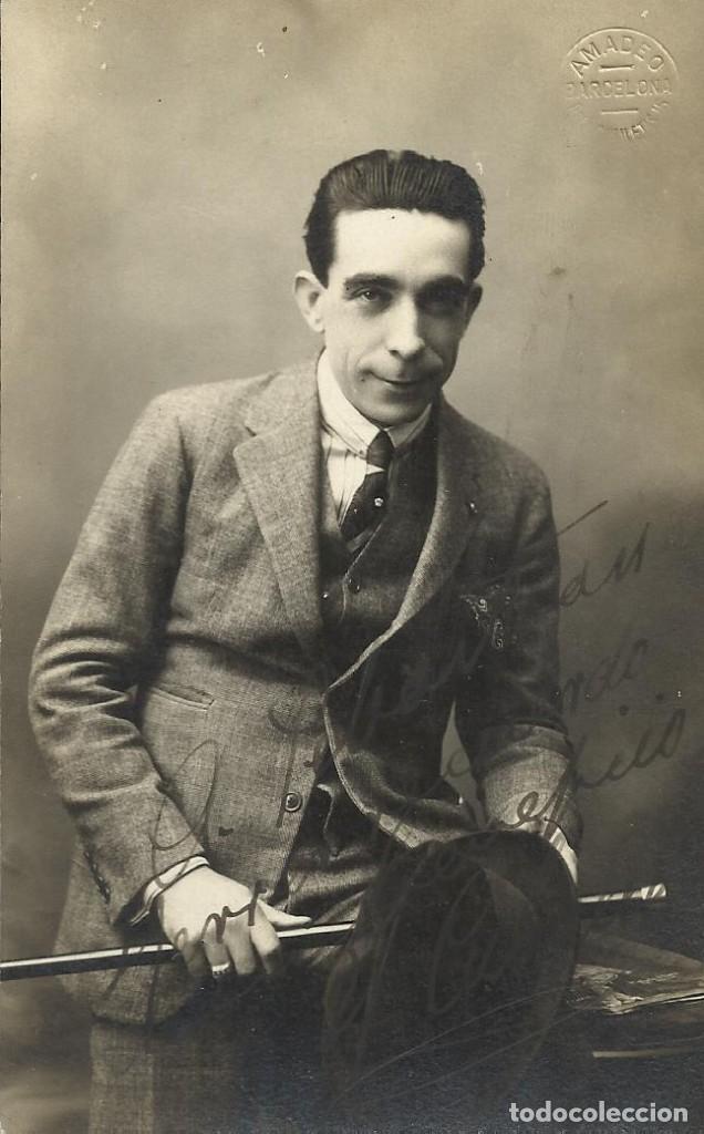 AMADEO. BARCELONA. PELAYO 62. FIRMA, AUTÓGRAFO ACTOR CABALLÉ. A SEBASTIÁN FERRER. 1920. BUEN ESTADO. (Fotografía - Artística)