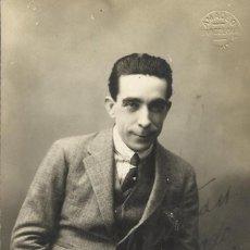 Fotografía antigua: AMADEO. BARCELONA. PELAYO 62. FIRMA, AUTÓGRAFO ACTOR CABALLÉ. A SEBASTIÁN FERRER. 1920. BUEN ESTADO.. Lote 203240385