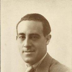 Fotografía antigua: GONZÁLEZ. FOTÓGRAFO. SEVILLA. AUTÓGRAFO, FIRMA BLAS LLEDÓ. CANTANTE Y ACTOR. A SEBASTIÁN FERRER 1920. Lote 203241057
