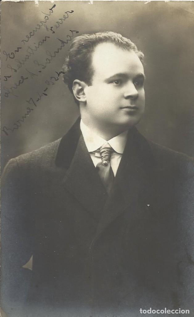 VARISCHI & ARTICO. MILANO. FIRMA, AUTÓGRAFO. A. SALMOLAS. 1924. A SEBASTIÁN FERRER. BUEN ESTADO. (Fotografía - Artística)
