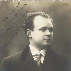 Fotografía antigua: VARISCHI & ARTICO. MILANO. FIRMA, AUTÓGRAFO. A. SALMOLAS. 1924. A SEBASTIÁN FERRER. BUEN ESTADO.. Lote 203252628