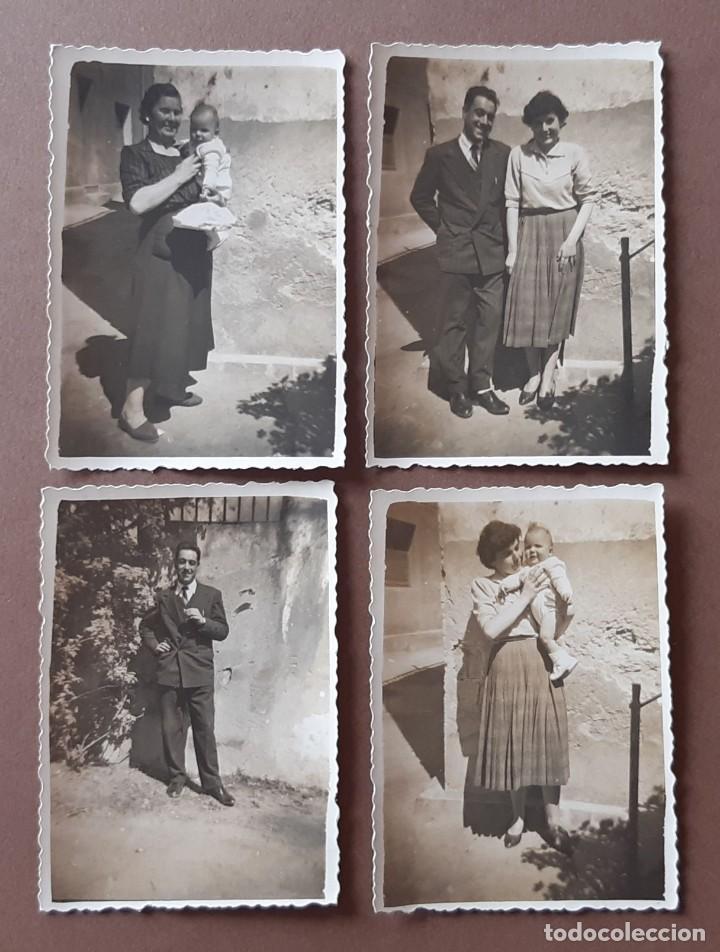 LOTE 4 ANTIGUAS FOTOGRAFÍAS FAMILIA. LA BAUMA. CASTELLBELL Y VILAR. BARCELONA. AÑOS 50. (Fotografía - Artística)