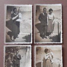 Fotografía antigua: LOTE 4 ANTIGUAS FOTOGRAFÍAS FAMILIA. LA BAUMA. CASTELLBELL Y VILAR. BARCELONA. AÑOS 50.. Lote 203278716