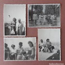 Fotografía antigua: LOTE 4 ANTIGUAS FOTOGRAFÍAS VIAJE A PALMA DE MALLORCA. BELLVER. 1949. TROQUELADAS. AÑOS 40.. Lote 203372813