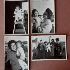 Fotografía antigua: LOTE 4 ANTIGUAS FOTOGRAFÍAS FAMILIA CON NIÑA. FOTO ÍBERO. GERONA. AÑOS 60.. Lote 203382322