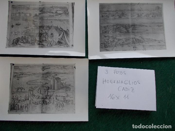3 FOTOS GRABADO HOEFNAGLIOS CADIZ (Fotografía - Artística)