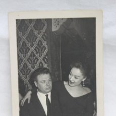 Fotografía antigua: FOTOGRAFIA DAMIAN RABAL VALERA Y ARTISTA, FOTOS PECIÑA, MADRID 1959. Lote 204127628