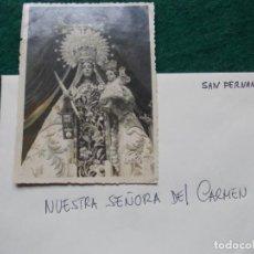 Fotografia antiga: FOTOGRAFÍA ANTIGUA DE NUESTRA SEÑORA DEL CARMEN DE SAN FERNANDO. Lote 204131348