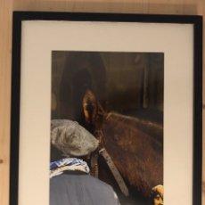 Fotografía antigua: FOTOGRAFÍA DE AUTOR DE UN ANTIGUO PORTEADOR O TRAGINER FIESTA DE BALSARENY (BARCELONA) ENMARCADA. Lote 204443862