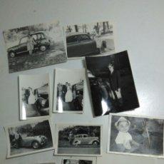 Fotografía antigua: LOTE DE 11 FOTOGRAFIAS ANTIGUAS DE PERSONAS CON SUS COCHES ,TODAS DE EPOCA. Lote 205164601