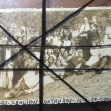 Fotografía antigua: A CORUÑA, FIESTA ROMERÍA LOS CANEIROS , BETANZOS 10 AGOSTO 1939. MIDE 11,5 X 8,5 CMS. NIC. Lote 206188601