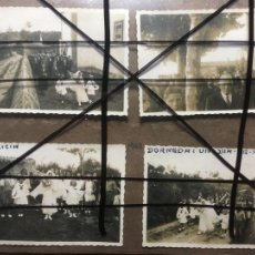 Fotografía antigua: GALICIA,CORUÑA, 8 FOTOS FIESTA DEL ROSARIO EN DORNEDA,OLEIROS AÑO 1943. MIDEN 8 X 5,5 CMS. NIC. Lote 206188922