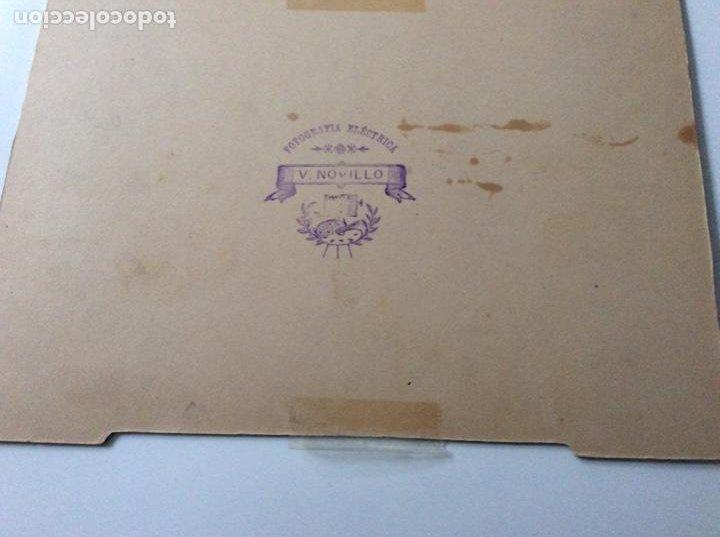 Fotografía antigua: Fotografía Eléctrica siglo XIX Prestigioso fotógrafo V. Novillo con precioso marco de mediados S.XX - Foto 4 - 157239730