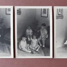 Fotografía antigua: LOTE 3 ANTIGUAS FOTOGRAFÍAS 4 HERMANOS. PAPEL VALCA. MADRID. AÑOS 60.. Lote 208764096