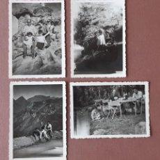 Fotografía antigua: LOTE 4 ANTIGUAS FOTOGRAFÍAS FAMILIA. FRANCIA. PAPEL GEVAERT RIDAX. AÑOS 40. TROQUELADAS.. Lote 208845085