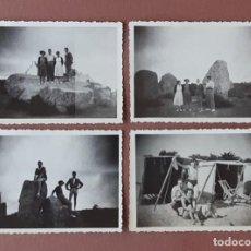Fotografía antigua: LOTE 4 ANTIGUAS FOTOGRAFÍAS FAMILIA. CARNAC. FRANCIA. PAPEL VELOX. AÑOS 40. TROQUELADAS.. Lote 208845297