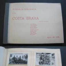 Fotografía antigua: COSTA BRAVA-ALBUM CON MUCHAS FOTOGRAFIAS-AGOSTO 1945-VER FOTOS-(V-20.755). Lote 208857493