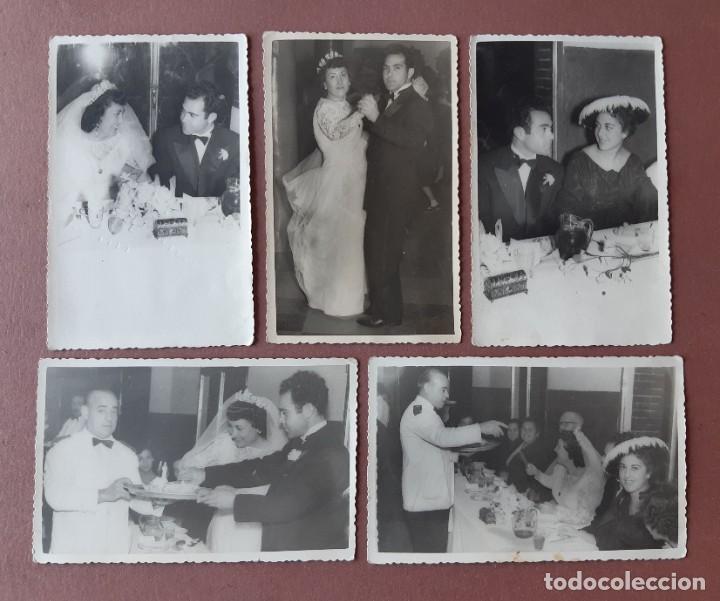 LOTE 5 ANTIGUAS FOTOGRAFÍAS NOVIOS. BODA. 1956. FOTO DÍAZ. MADRID. AÑOS 50. (Fotografía - Artística)