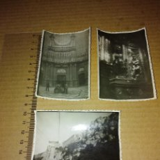 Fotografía antigua: LOTE 3 FOTOGRAFIAS MONASTERIO MONTSERRAT BARCELONA 1952. Lote 209097841