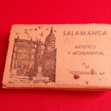 Fotografía antigua: ALBUMSITO SALAMANCA ARTISTICO Y MONUMENTAL 24 FOTOGRAFIAS 6X9. Lote 210376747