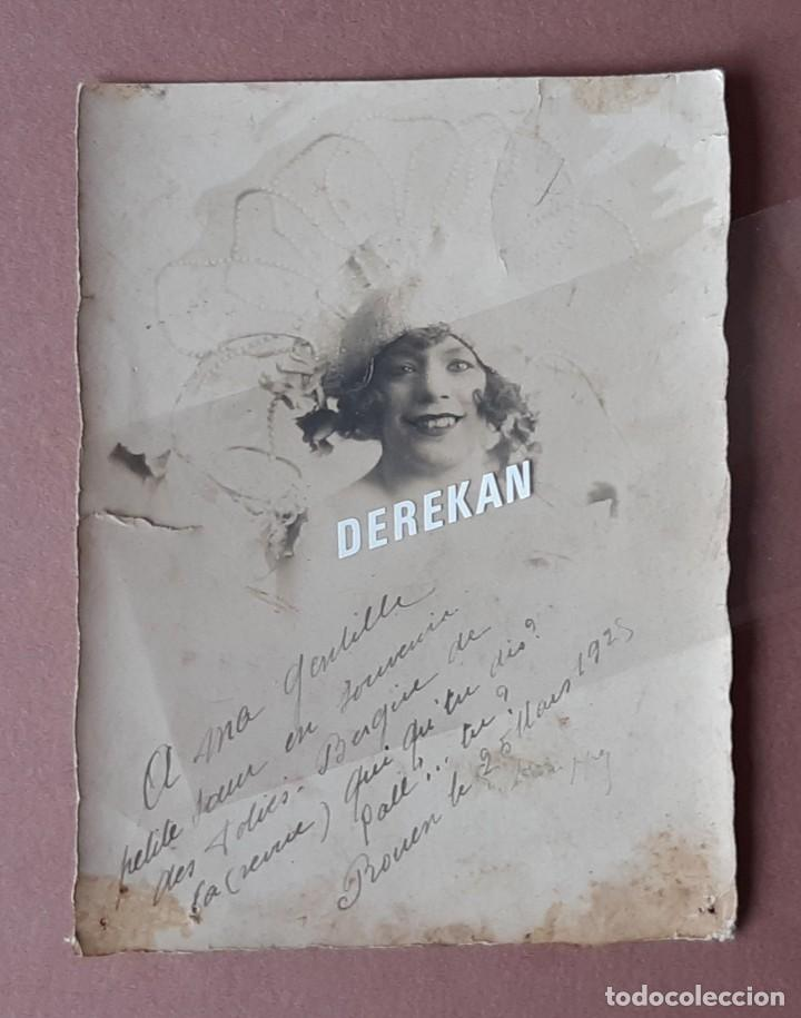 ANTIGUA FOTOGRAFÍA MUJER JÓVEN. FOLIES BERGÈRE. ROUEN. 1928. FRANCIA. DEDICADA. (Fotografía - Artística)